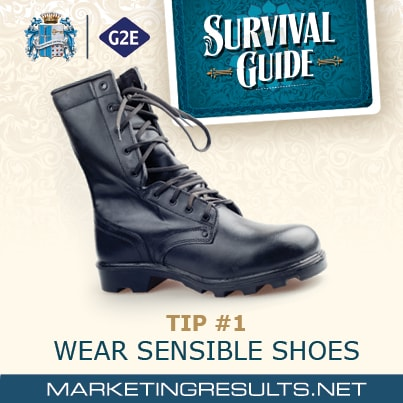 Global Gaming Expo G2E 2013 Survival Tip 1