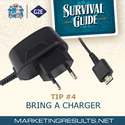 Global Gaming Expo G2E 2013 Survival Tip 4