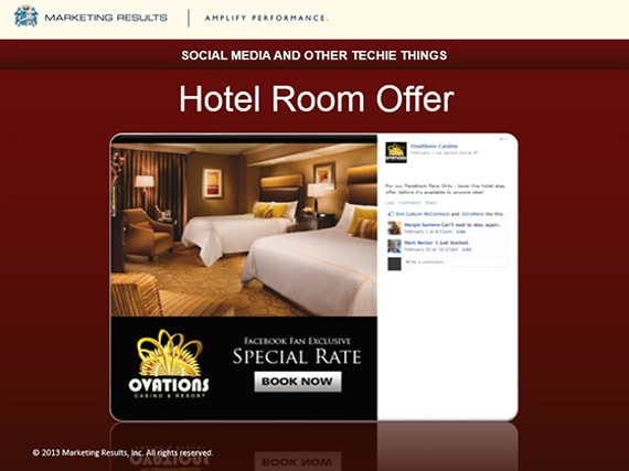 Marketing Results - OIGA 2013 - Hotel Room Offers