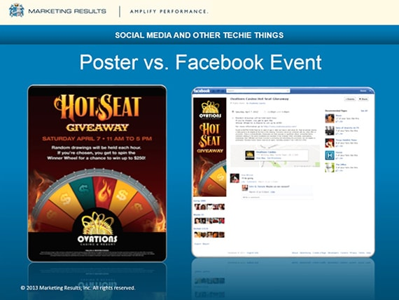 Marketing Results - OIGA 2013 - Poster vs. Facebook Event