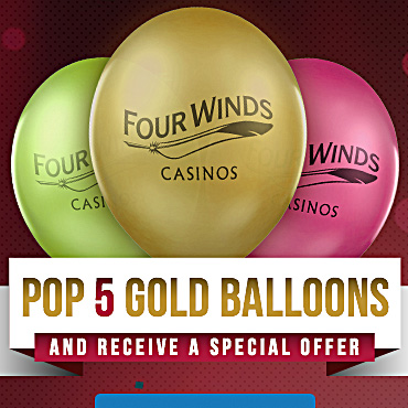 Pop 5 Gold Balloons and Receive a Special Offer