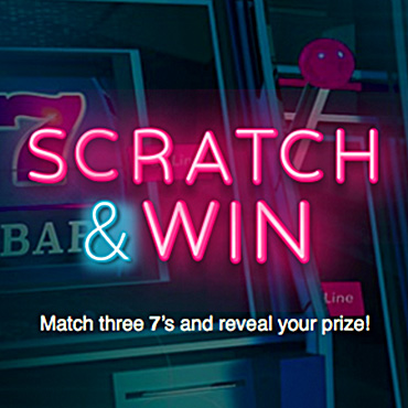 Scratch & Win: Match three 7's and reveal your prize!